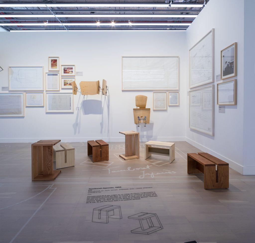 Sillas del Espacio Bertelsmann en la exposición Perpetuum Mobile